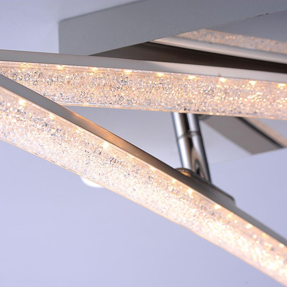 Simon LED Acryl Deckenleuchte 2x 5W 3000K Chrom 4