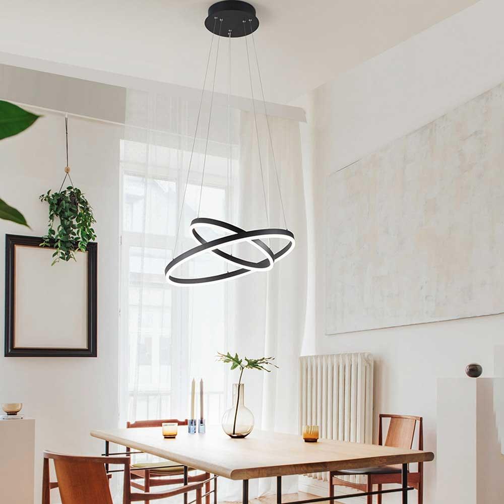 Fabas Luce Giotto LED Pendelleuchte Ø 60cm 1