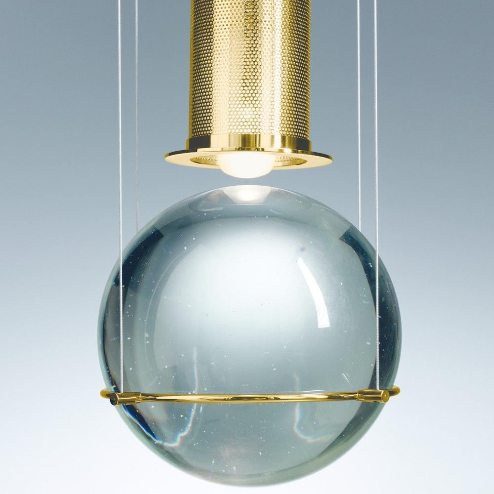 Tecnolumen LED-Hängeleuchte Le tre streghe  Muranoglas Gold 5