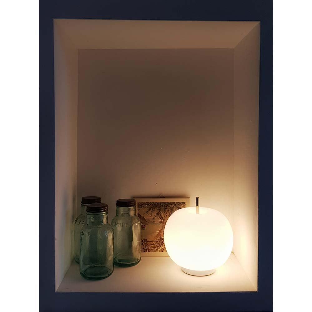 Kundalini Glas LED-Tischlampe Kushi Ø16cm Dimmbar 5