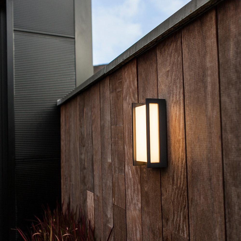 LED Außen-Wandleuchte Qubo IP54 Anthrazit 2