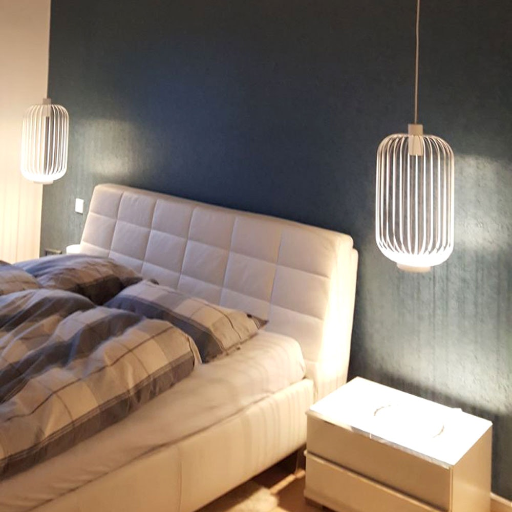 s.LUCE Rooms M direkt & indirekte Gitter-Pendelleuchte Ø30cm 11