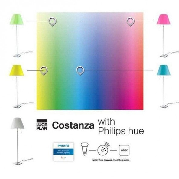 Luceplan LED Tischleuchte Costanza 110cm Philips Friends of Hue thumbnail 4