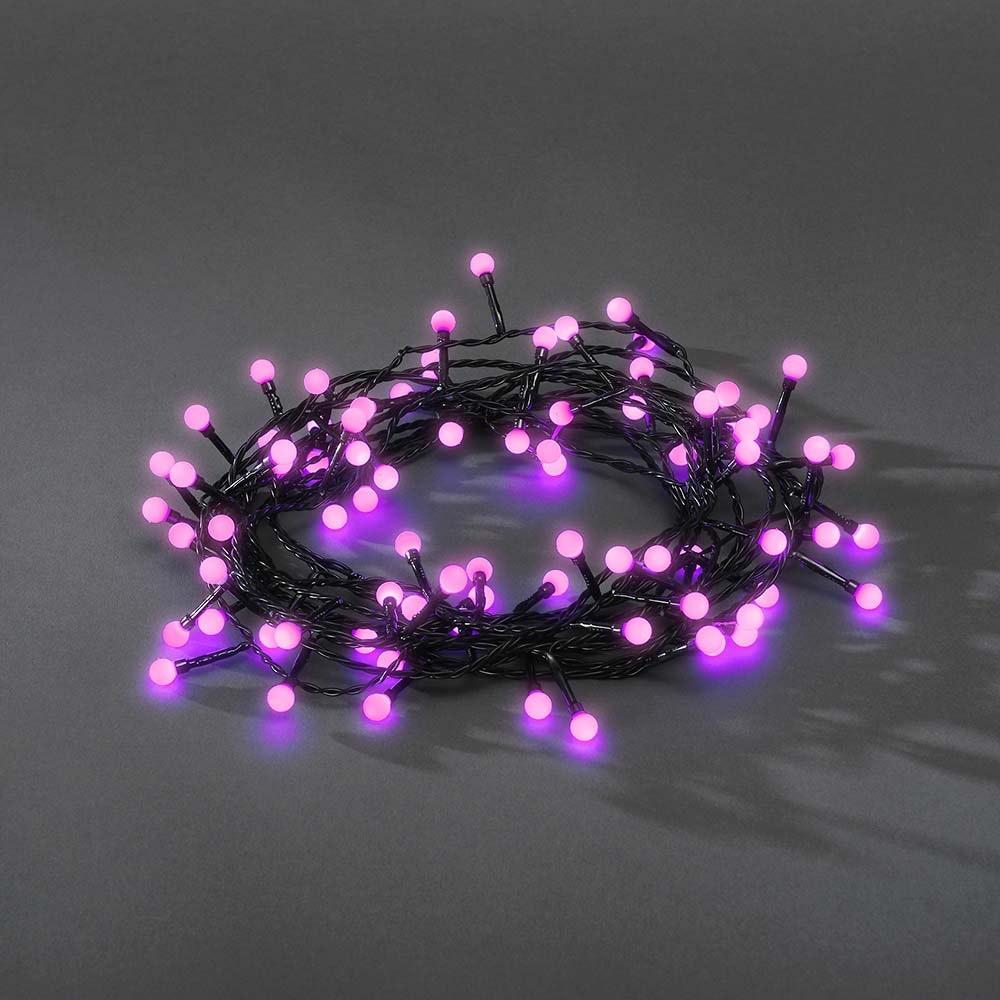 LED Globelichterkette runde Dioden 80 purpurfarbene Dioden IP44 11