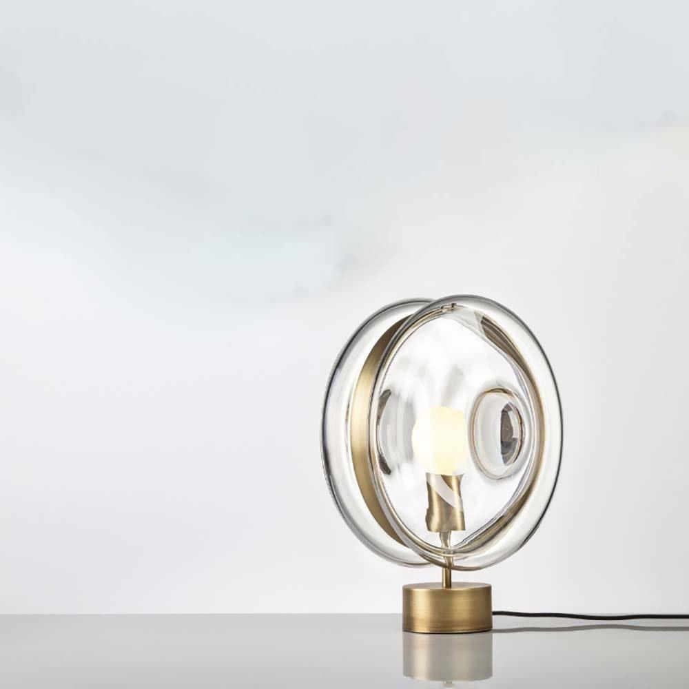 Bomma Glas-Tischlampe Orbital Ø 36cm 11