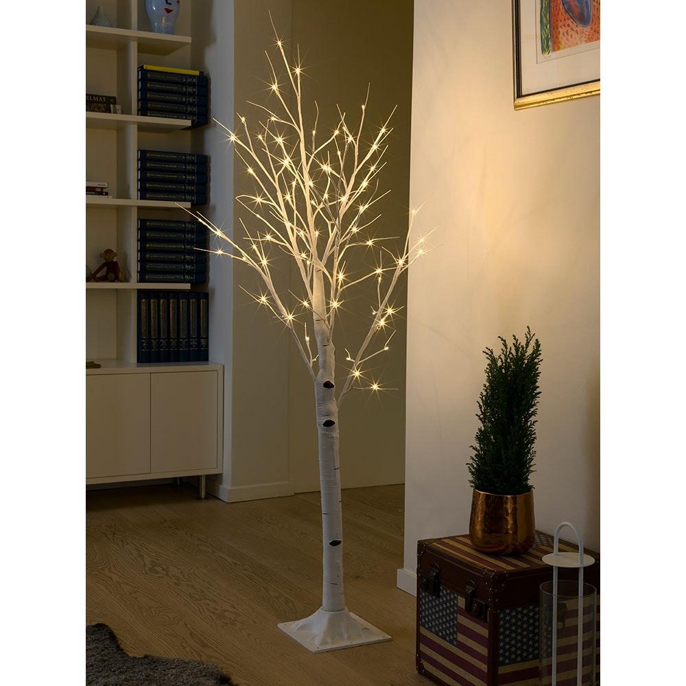 LED Birke mittel weiß 72 Warmweiße Dioden 1