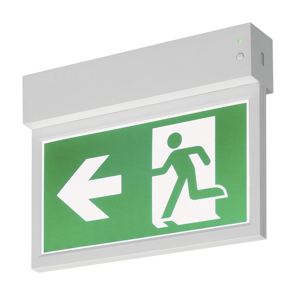 SLV P-Light Emergency Exit Sign Small Ceiling wall Weiß 2