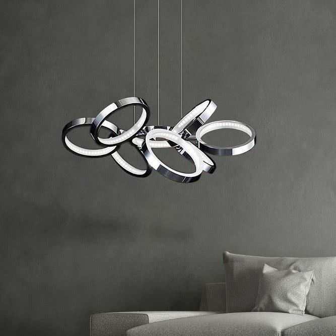 Creazione Design Hängeleuchte mit LED Ringen 29W, 3000K 1