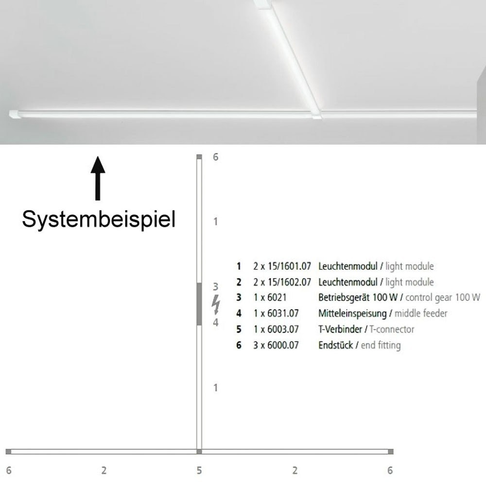 VIGO System LED-Linienmodul 100cm Alu-matt 16