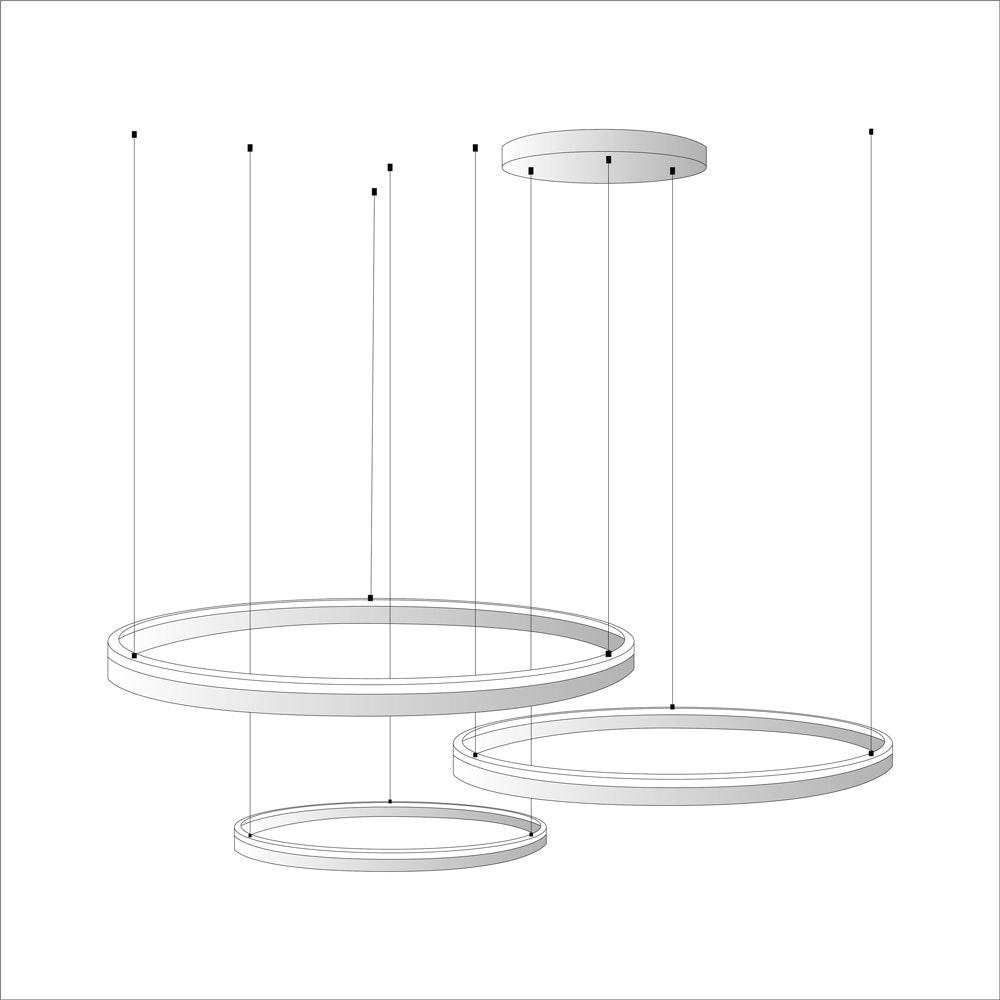 s.LUCE Ring Umbau zentrisch / exzentrisch (ohne LED-Ringe) 5