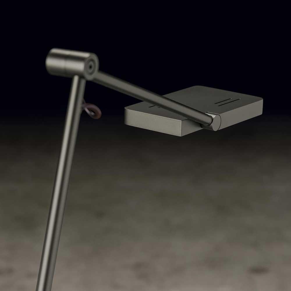 Holtkötter LED-Leseleuchte CLEA S Platin mit Tastdimmer 1200lm SunLike 6