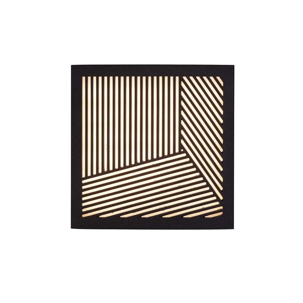 Design for the People LED Aussen-Wandlampe Maze Straight IP44 Schwarz, Opal Weiß 2