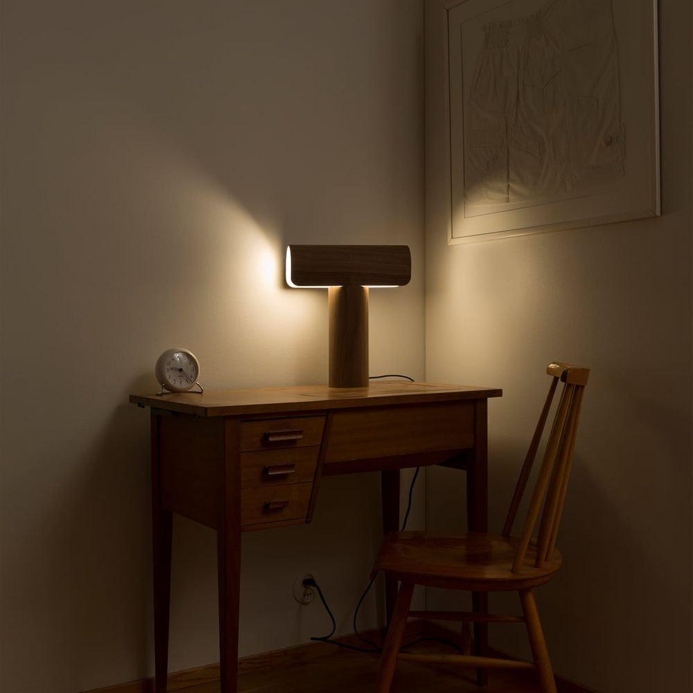 Tischleuchte Teelo 8020 aus Holz 38cm 4