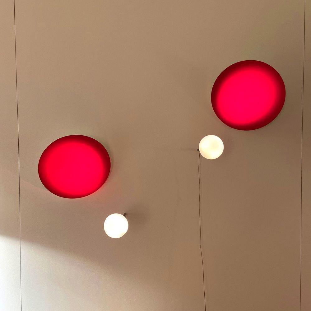 Ingo Maurer Aka_Tsuki Wandlampe Rot 2