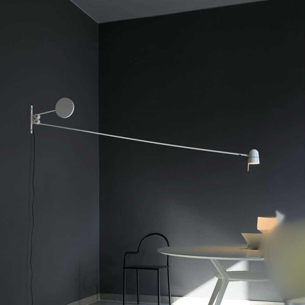 Luceplan LED Wandstrahler Counterbalance mit Gegengewicht 190cm 4