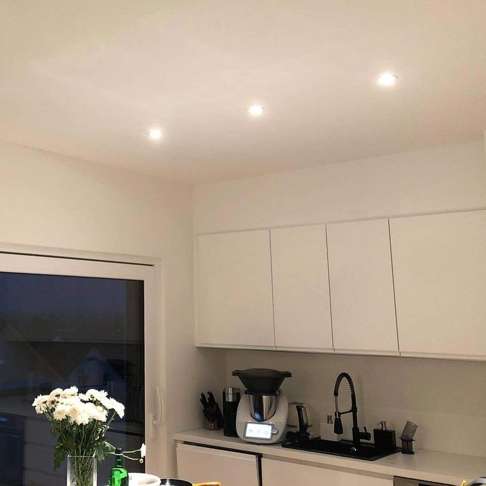 Brumberg LED Decken-Einbaulampe 470lm Weiß dim2warm IP65 2
