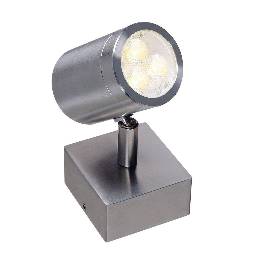 SLV Sst 316 LED Single Spot Wandleuchte Edelstahl 3W 3000K IP44 1
