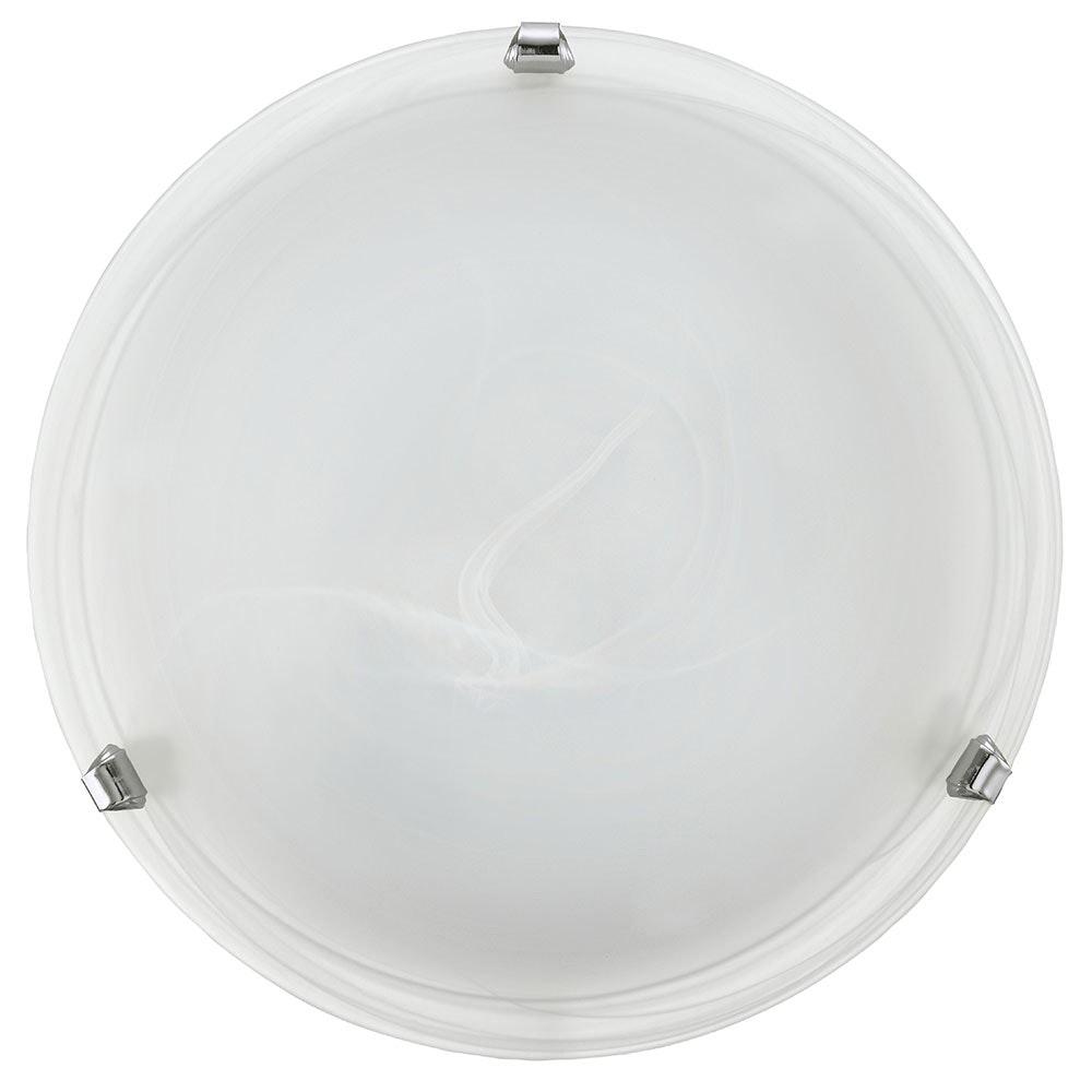 Salome Wand- & Deckenleuchte Ø 30cm Weiß, Chrom 2