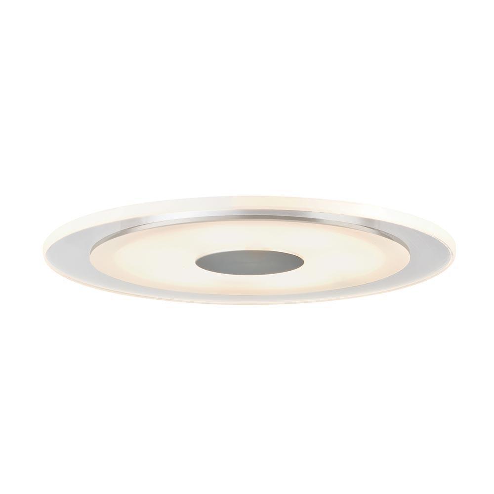 Premium EBL Set Whirl rund LED 1x6W Alu-Gedreht Satin Alu Acryl 1