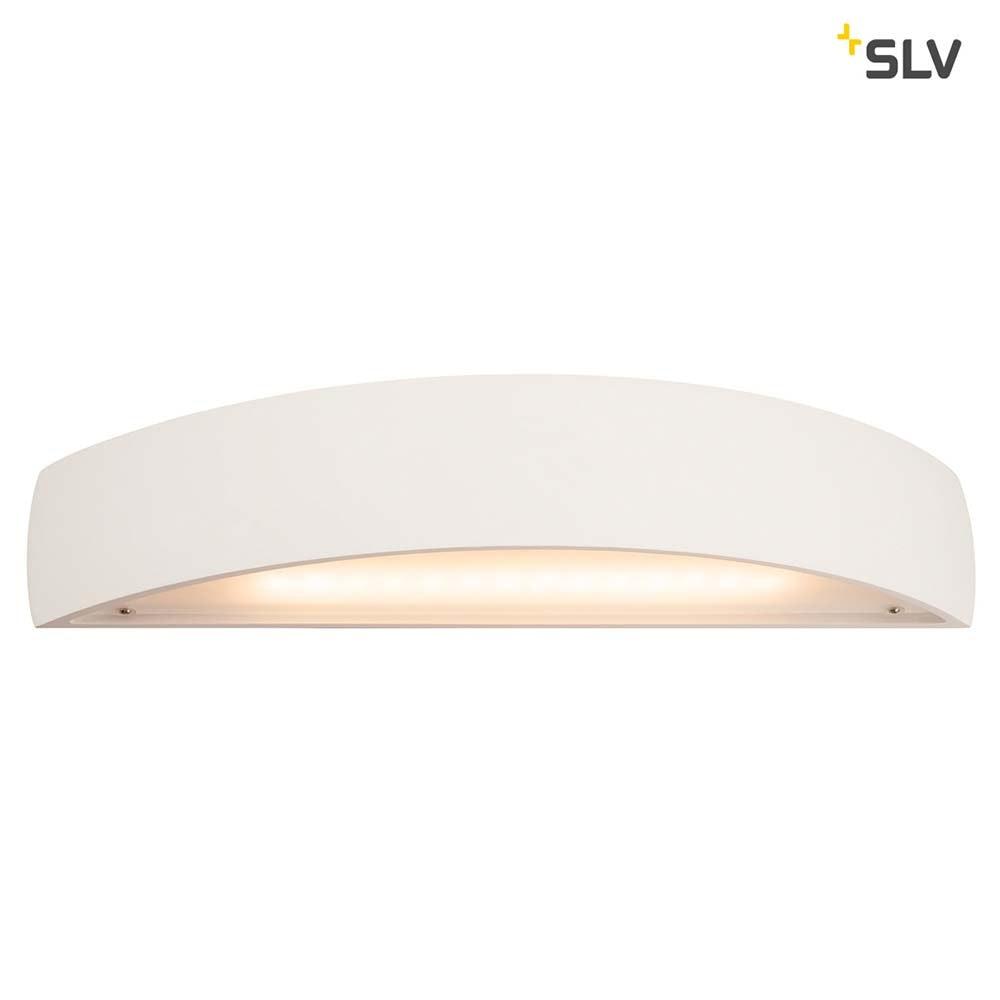 SLV Plastra Gips Wandleuchte LED 3000K Gewölbt Up/Down Dimmbar 1