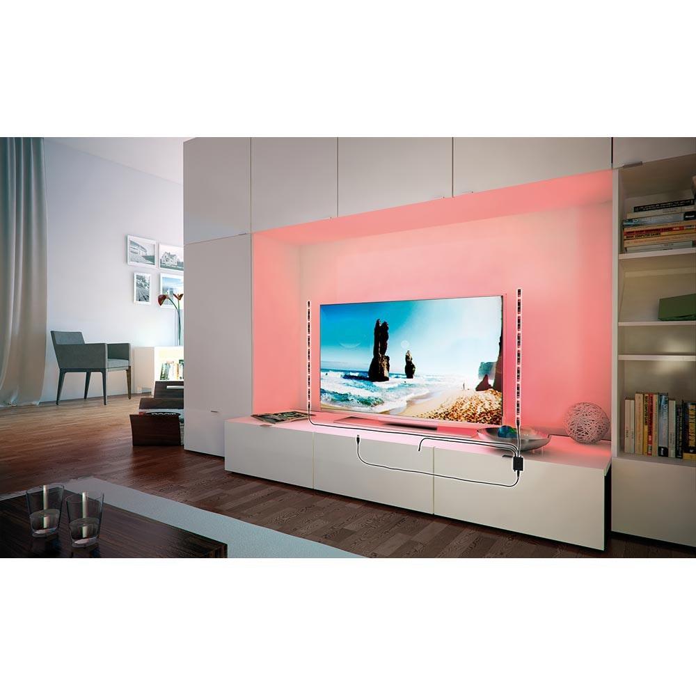 LED-Strip 2,5W RGB mit USB-Anschluss und Farbwechsel 2x50cm 3