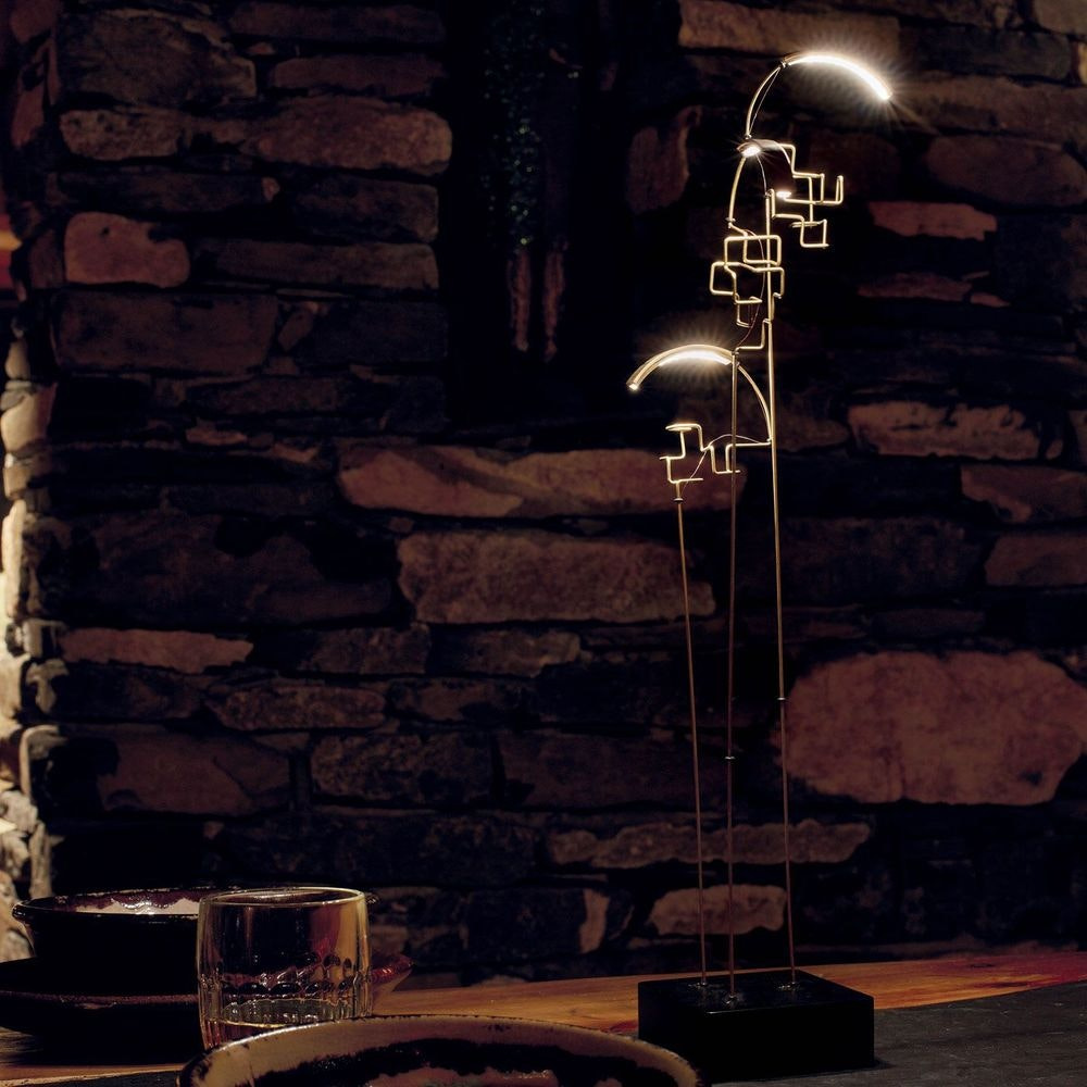 DCW Boucle LED Akku Tischlampe schwarz Gold thumbnail 4