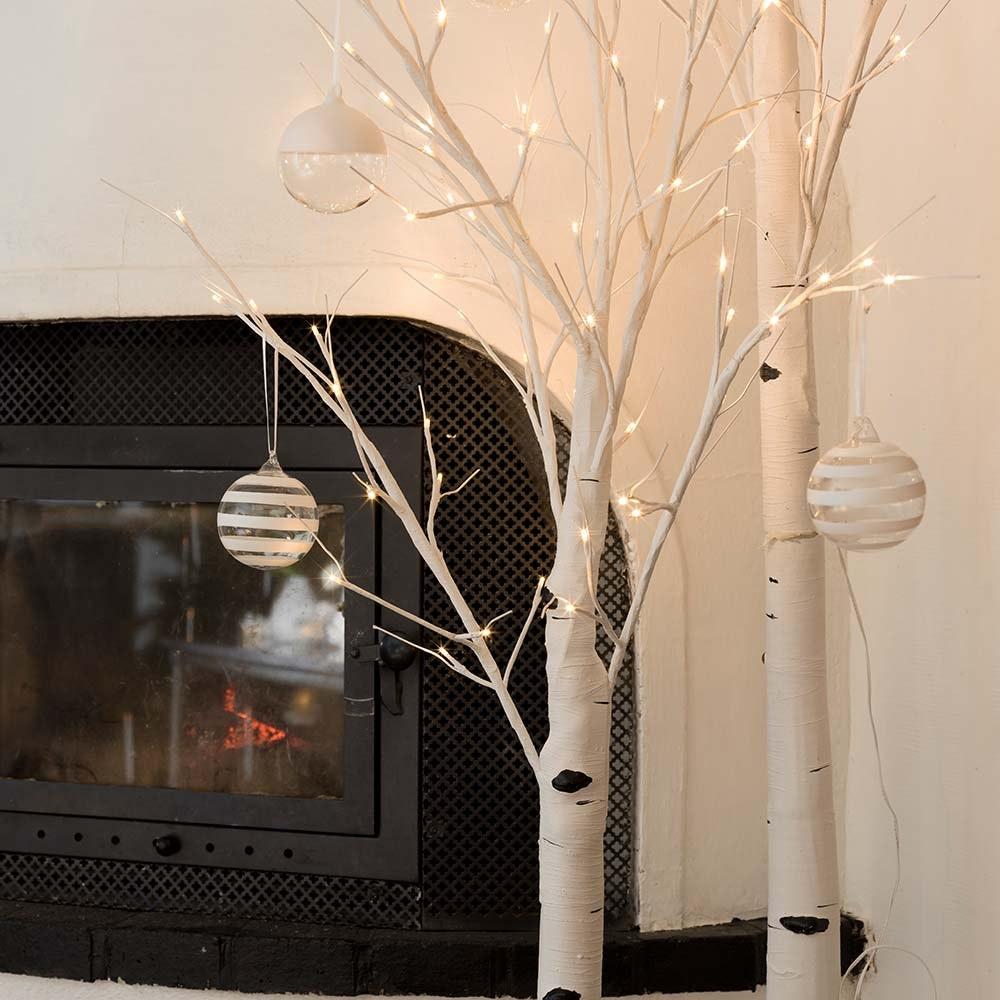 LED Birke groß weiß 120 Warmweiße Dioden 2
