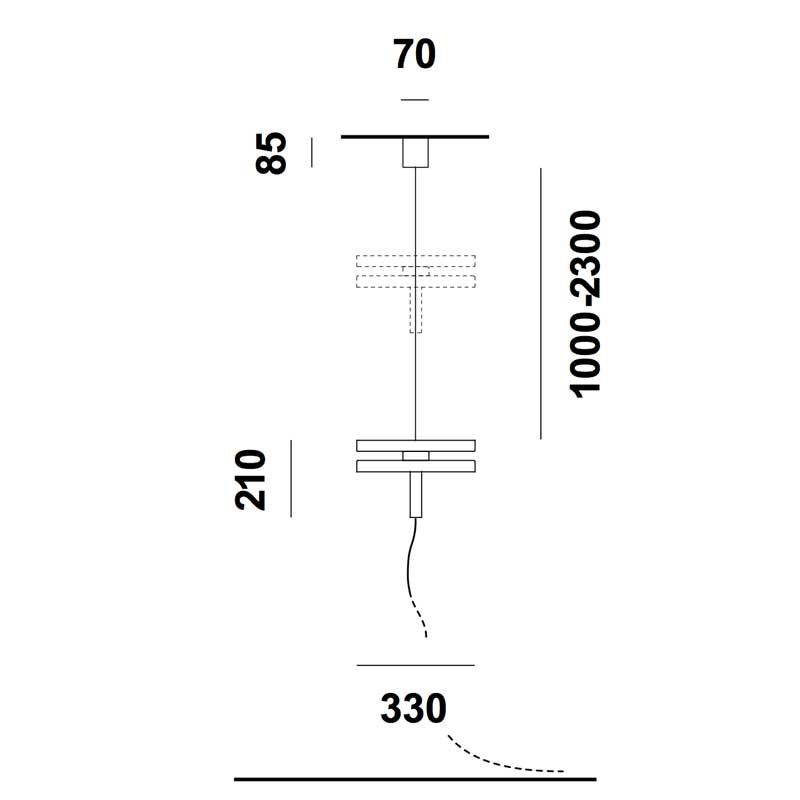 Prandina Steckdosen Hängeleuchte Led Machine S30 Schwarz 3
