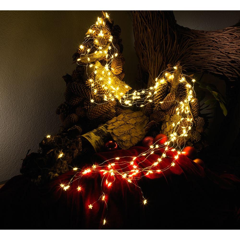 LED Sternenlametta 26 Stränge mit 27 Dioden 702 Warmweiße Dioden 2