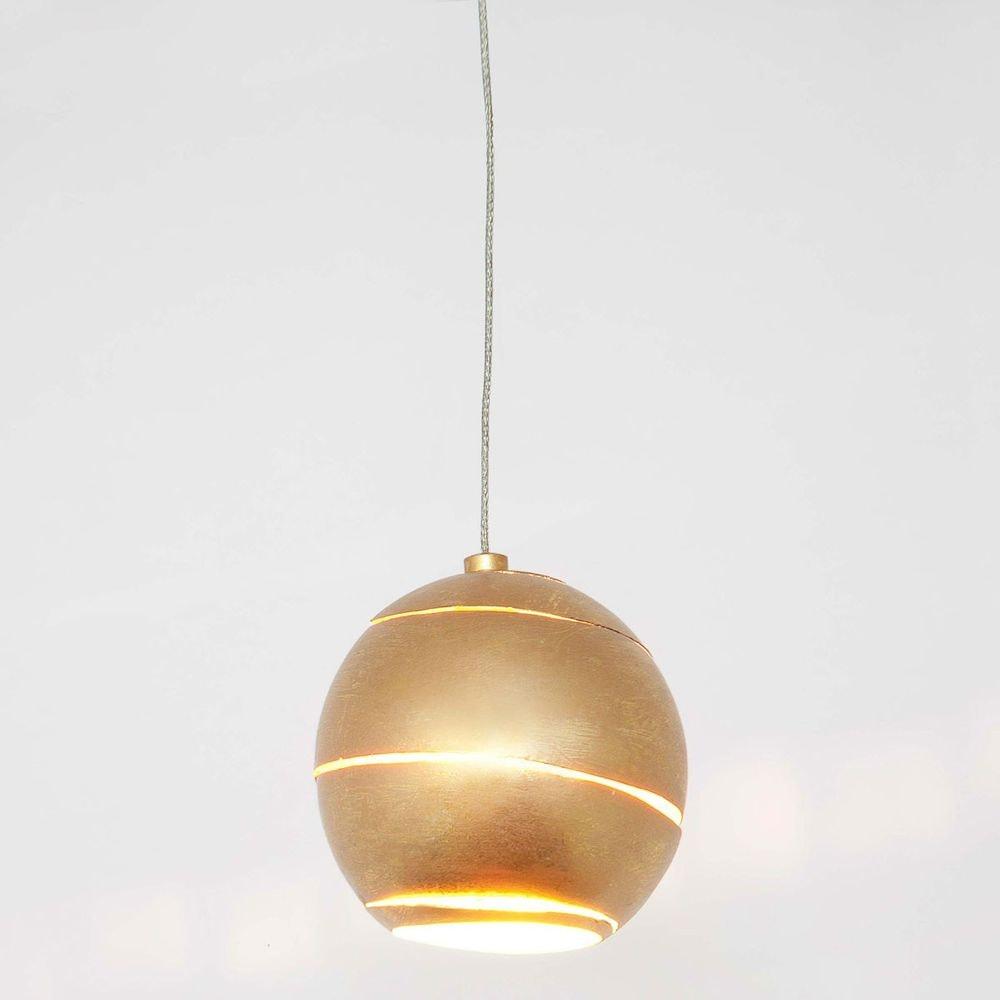 Pendelleuchte Suopare Eisen Gold 1