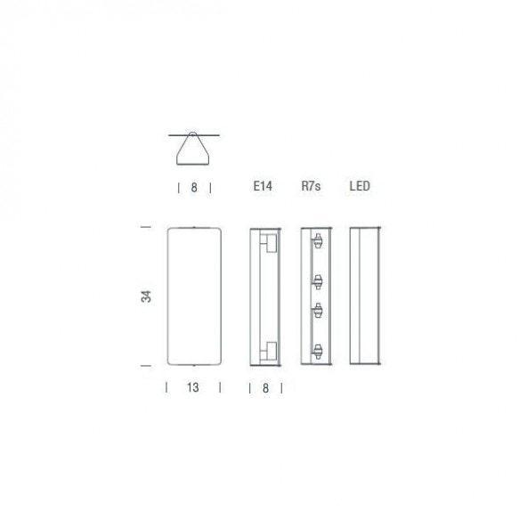 Nemo Applique À Volet Pivotant Double LED Wandleuchte 13x34 10
