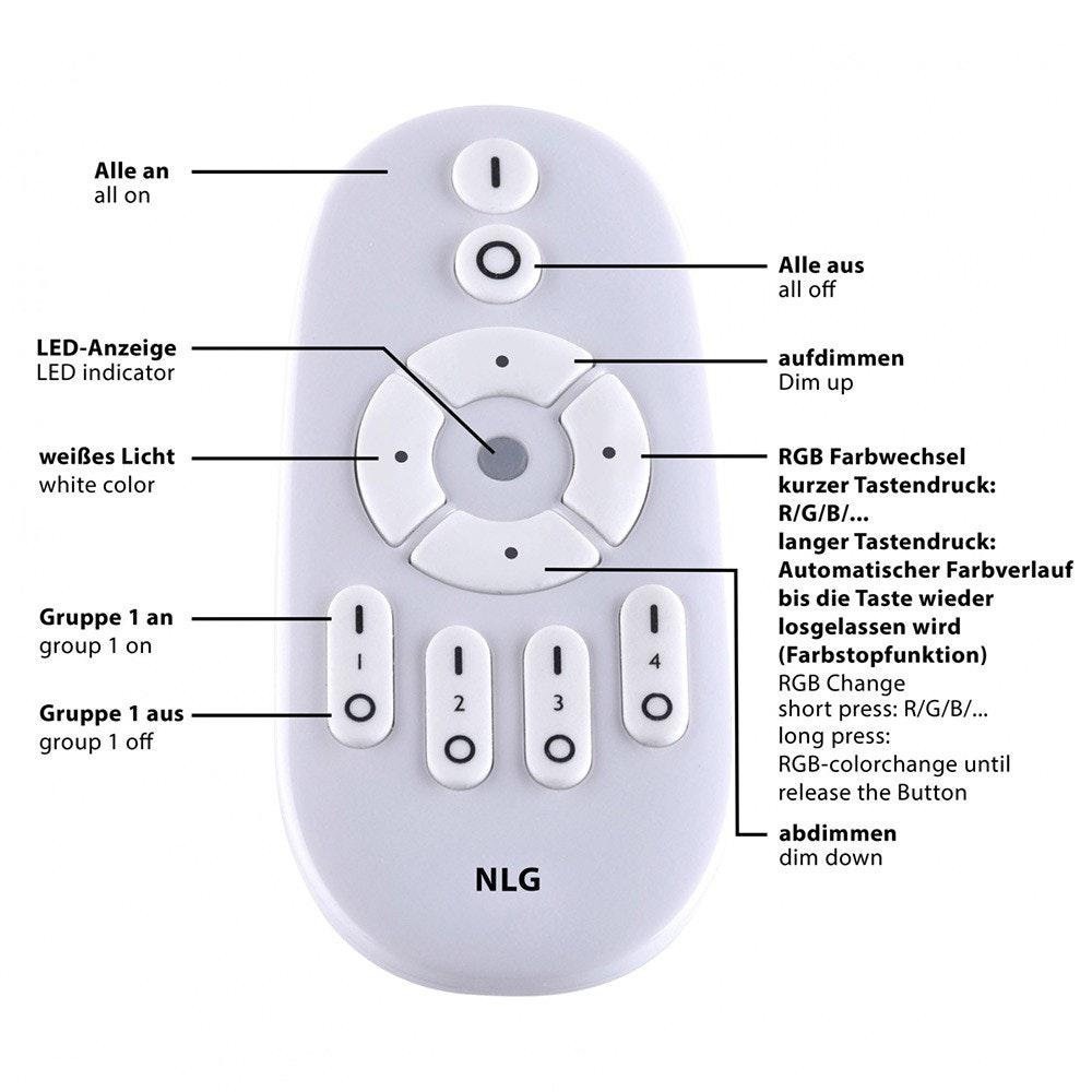 Q-Flat 45 x 45cm LED Deckenleuchte RGBW + Fb. Weiß thumbnail 6