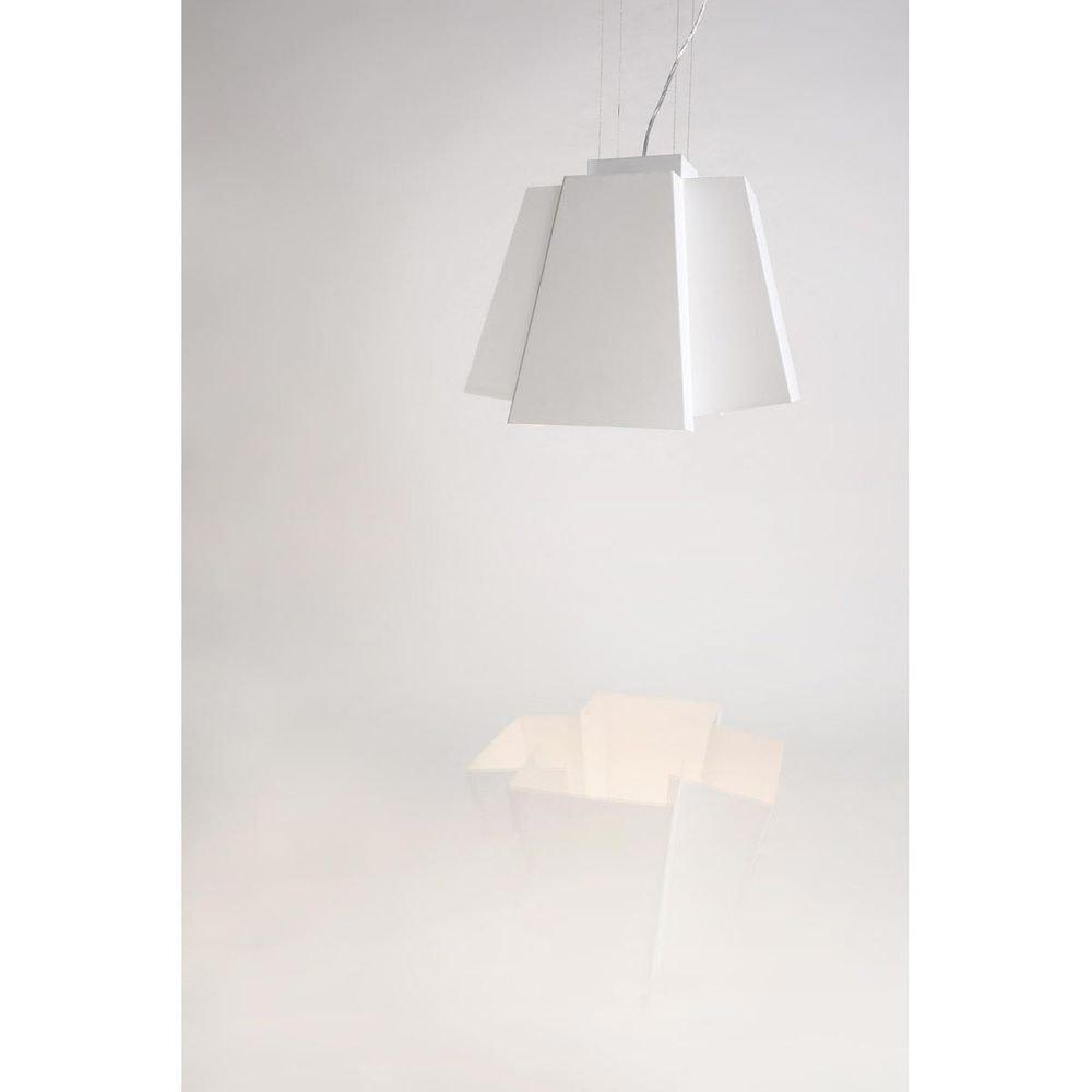 SLV SOBERBIA LED Pendelleuchte 60 eckig Weiß 60 SMD LED 20W 3000K 7