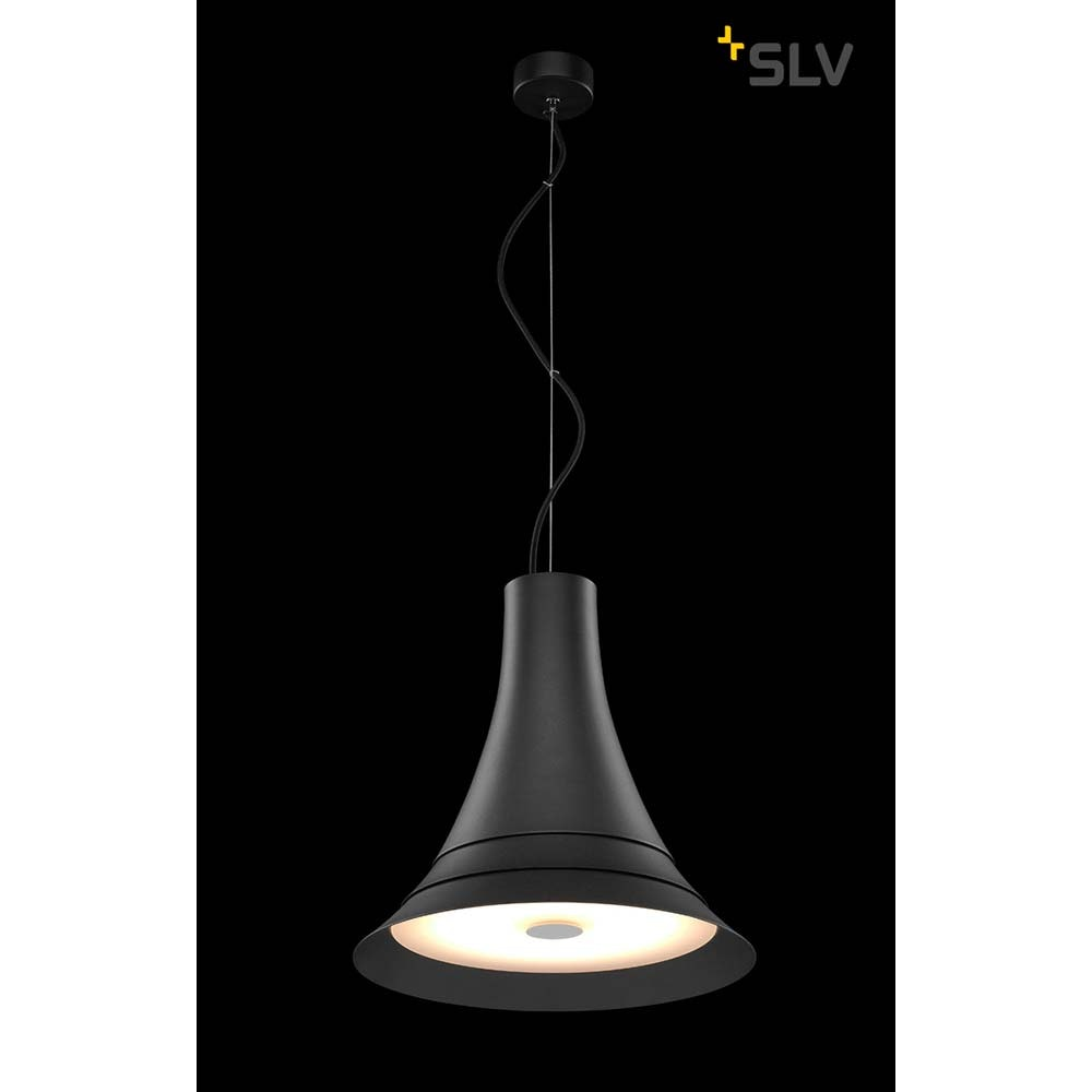 SLV Bato 35 LED Pendelleuchte Schwarz 2