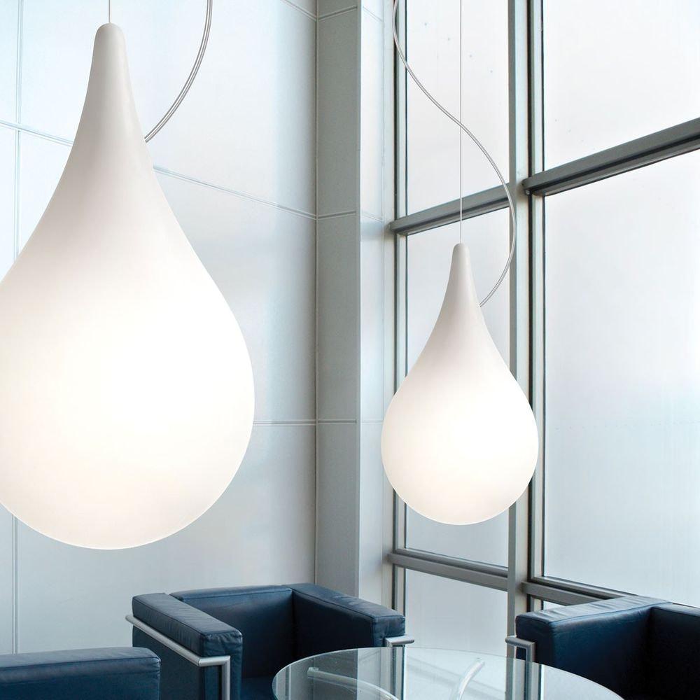LED Einbau-Pendelleuchte Drop_2 xs Liquid-Light Ø 10cm Weiß 2
