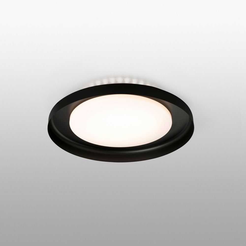 LED Deckenlampe DOLME Ø 40cm 24W IP20 Schwarz