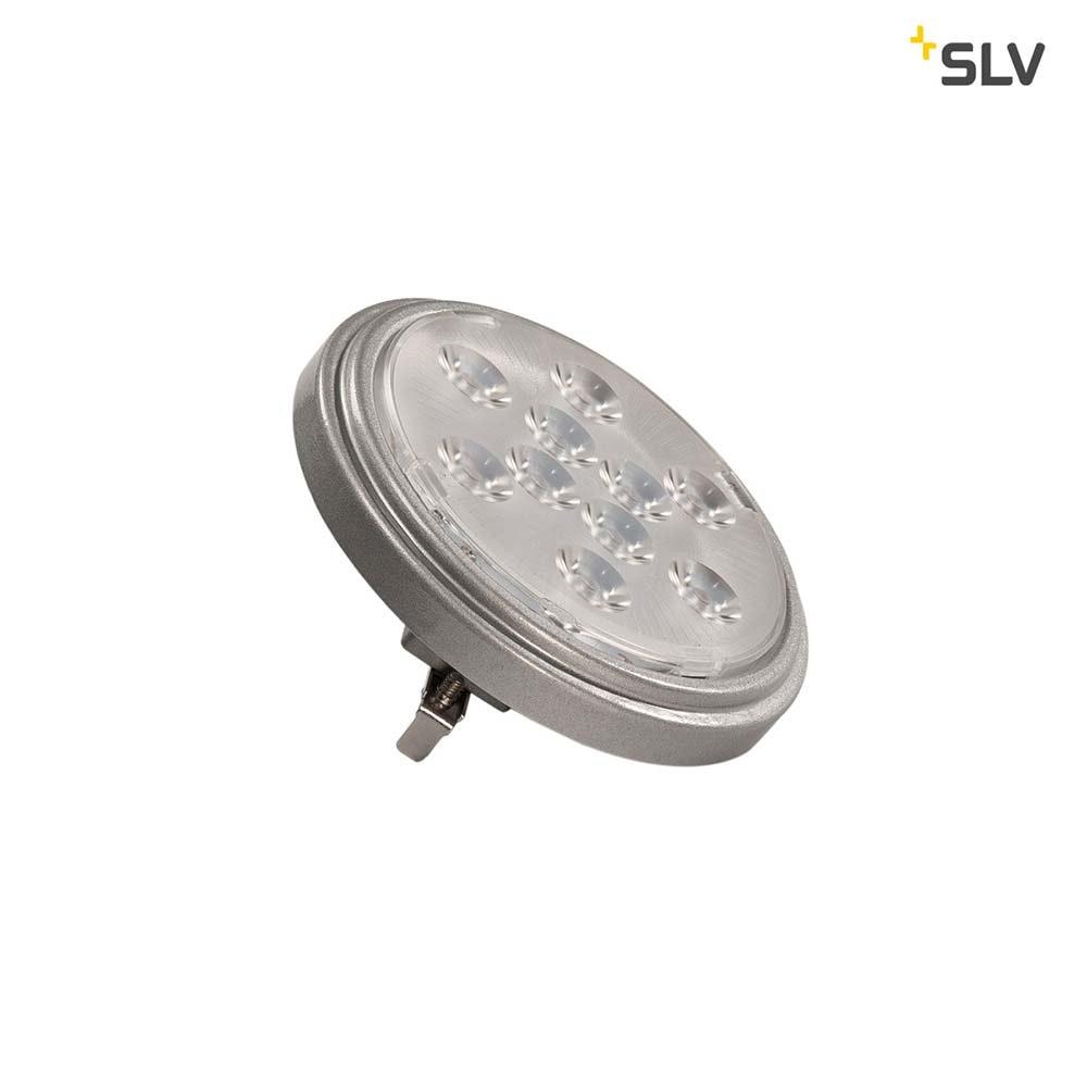 SLV LED QR111 G53 Leuchtmittel 13° Silbergrau 2700K 800lm
