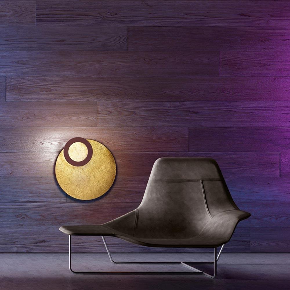 Icone LED Deckenleuchte Vera Ø 66cm Gold, Rost