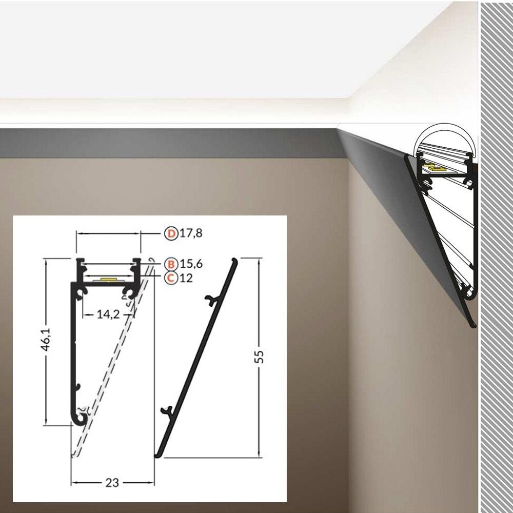 LED Aluminium Profil 2m alle Varianten  12