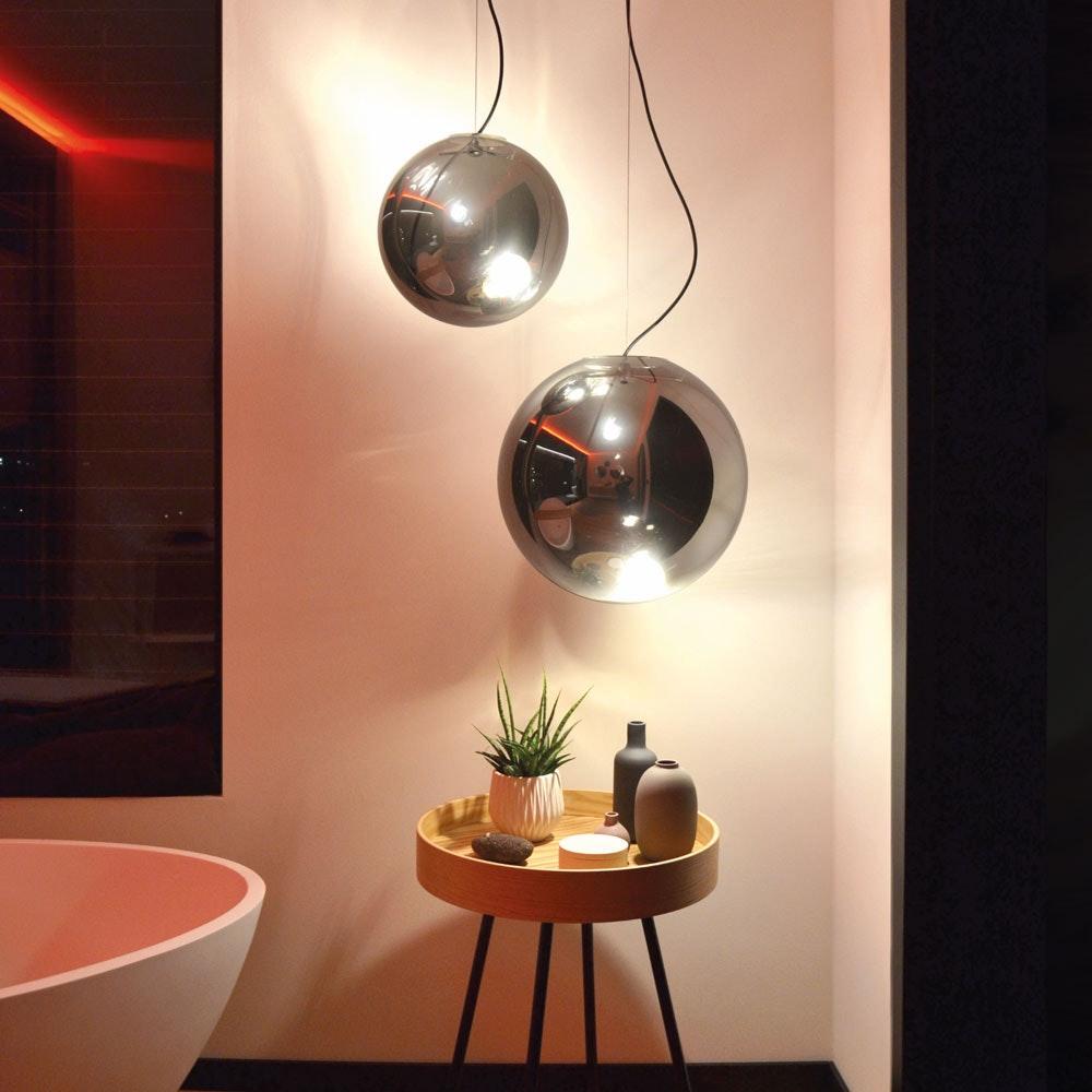 s.LUCE pro Sphere Galerieleuchte Glaskugel 5m Abhängung 6