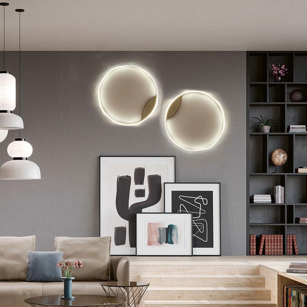 s.LUCE LED Ring 100 Wand & Decke Dimmbar Chrom 12