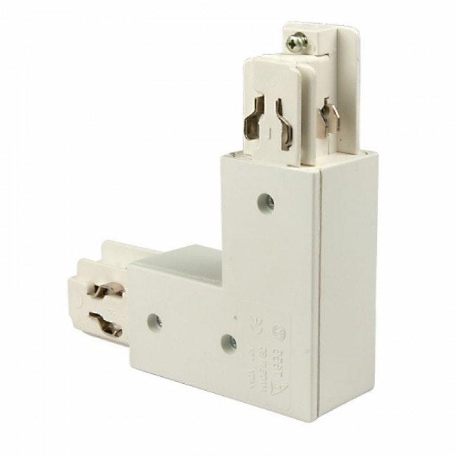 3-Phasen Eck-Verbinder 90° Innen Weiß 1