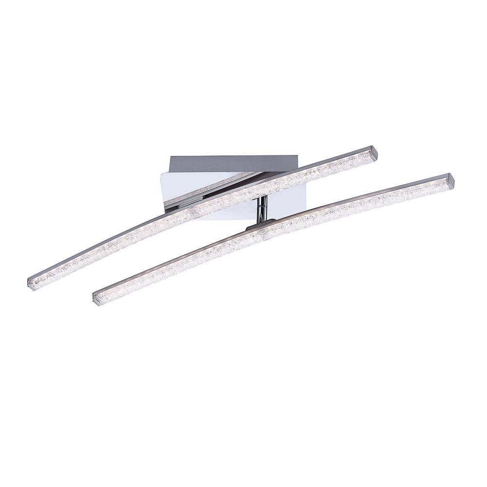 Simon LED Acryl Deckenleuchte 2x 5W 3000K Chrom 2