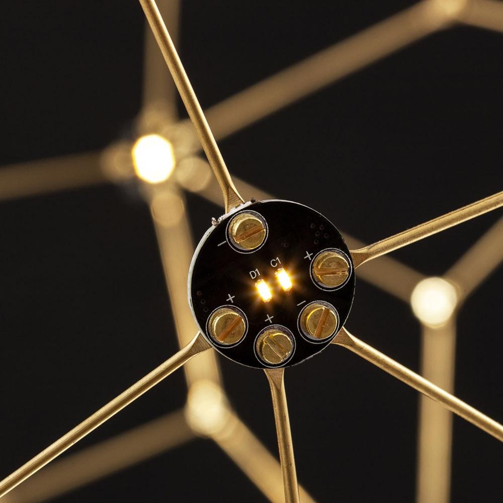 Nova Luce Sole LED-Drahtkugel Hängelampe Goldfarben thumbnail 3