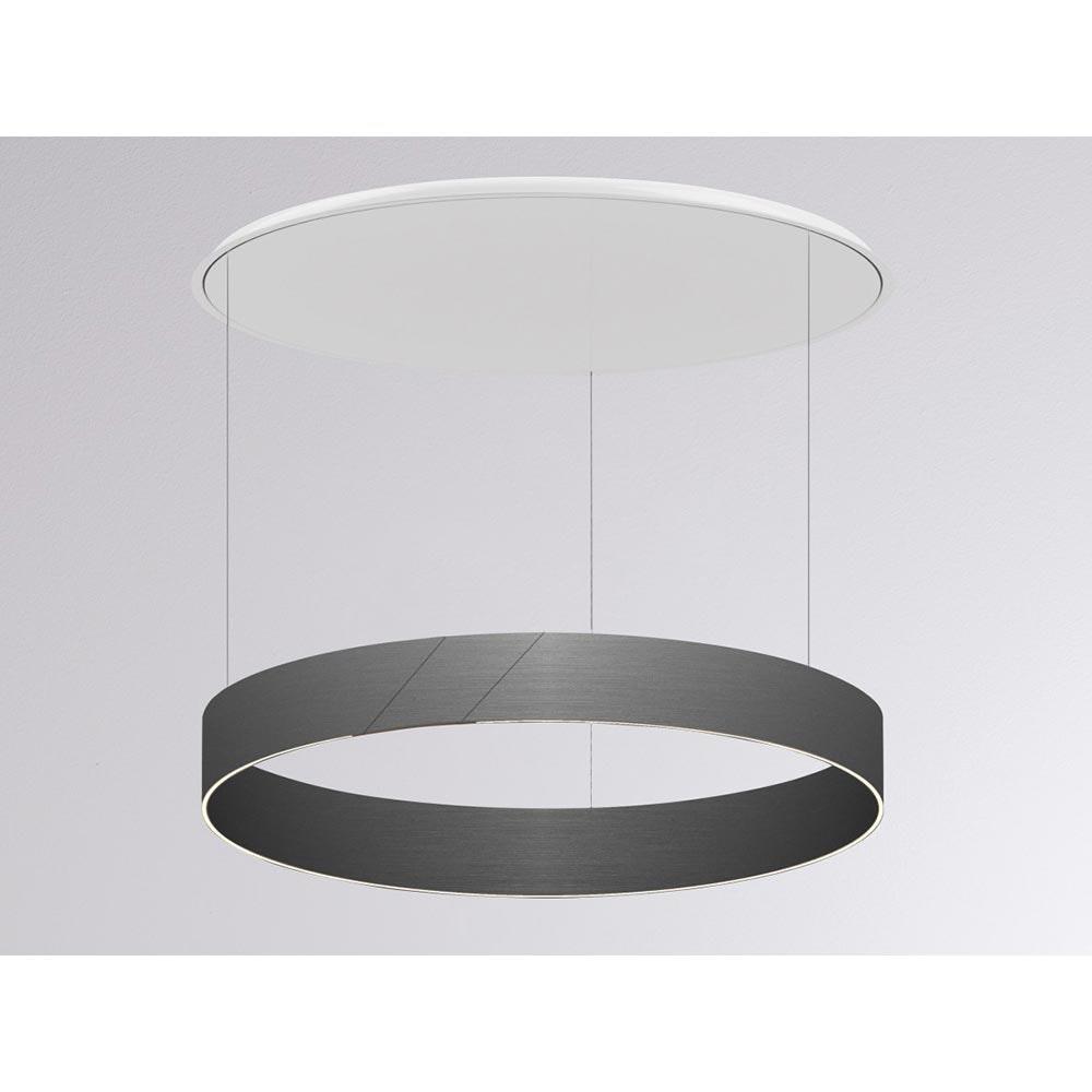Molto Luce After 8 Round LED Ring Pendelleuchte Ø 60cm Grau Dali dimmbar 1