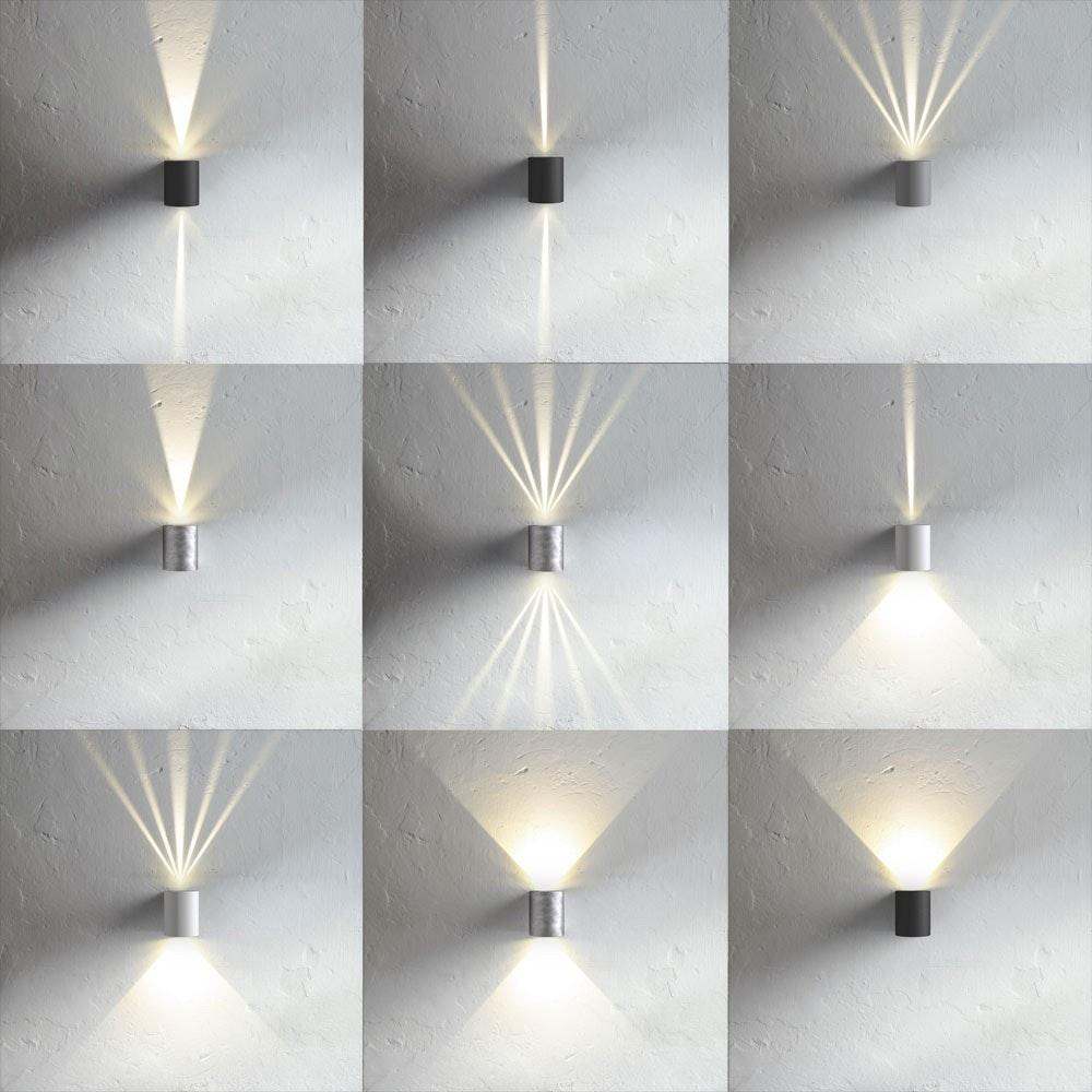 Baleno LED-Wandleuchte IP44 mit Lichtfilter Schwarz 1