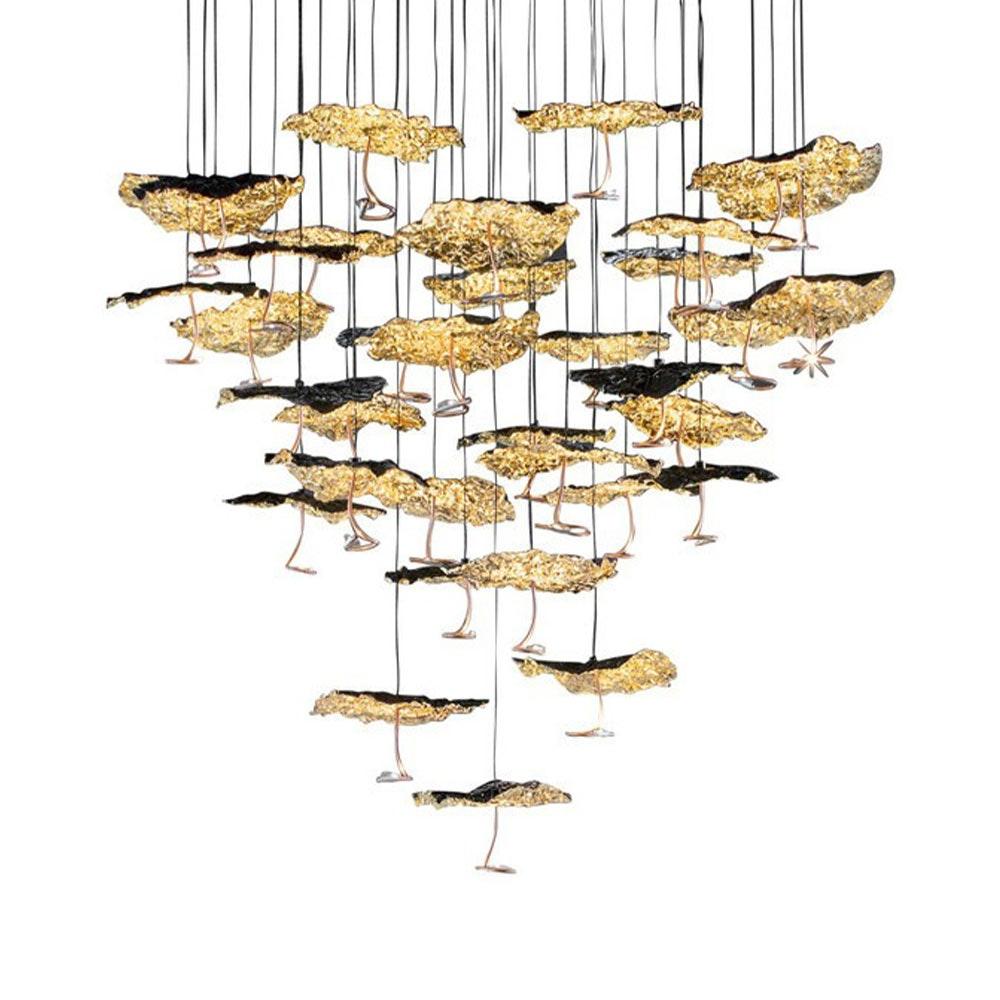 Catellani & Smith Gold Moon Chandelier LED Hängelampe