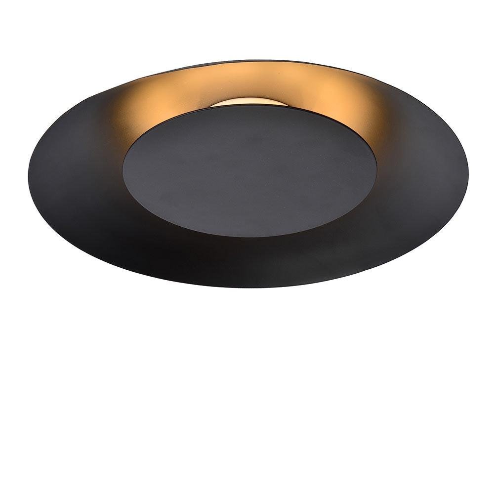 Stilvolle LED Deckenleuchte Foskal Ø 34,5cm Schwarz 2