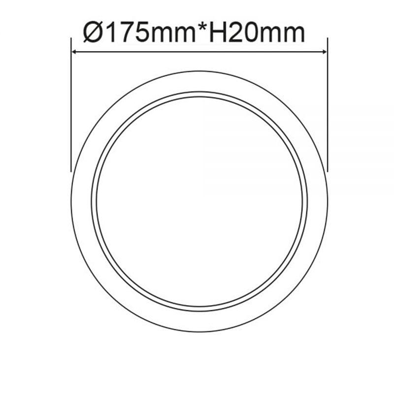 Einbau LED-Panel Ø 17,5cm Flex 15W Ausschnitt 5-16cm warmweiß 2