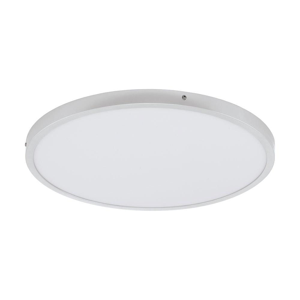 LED Deckenlampe Fueva 1 Ø 50cm Silberfarben, Weiß